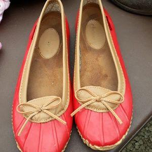 Chooka red rain shoes ladies sz 9